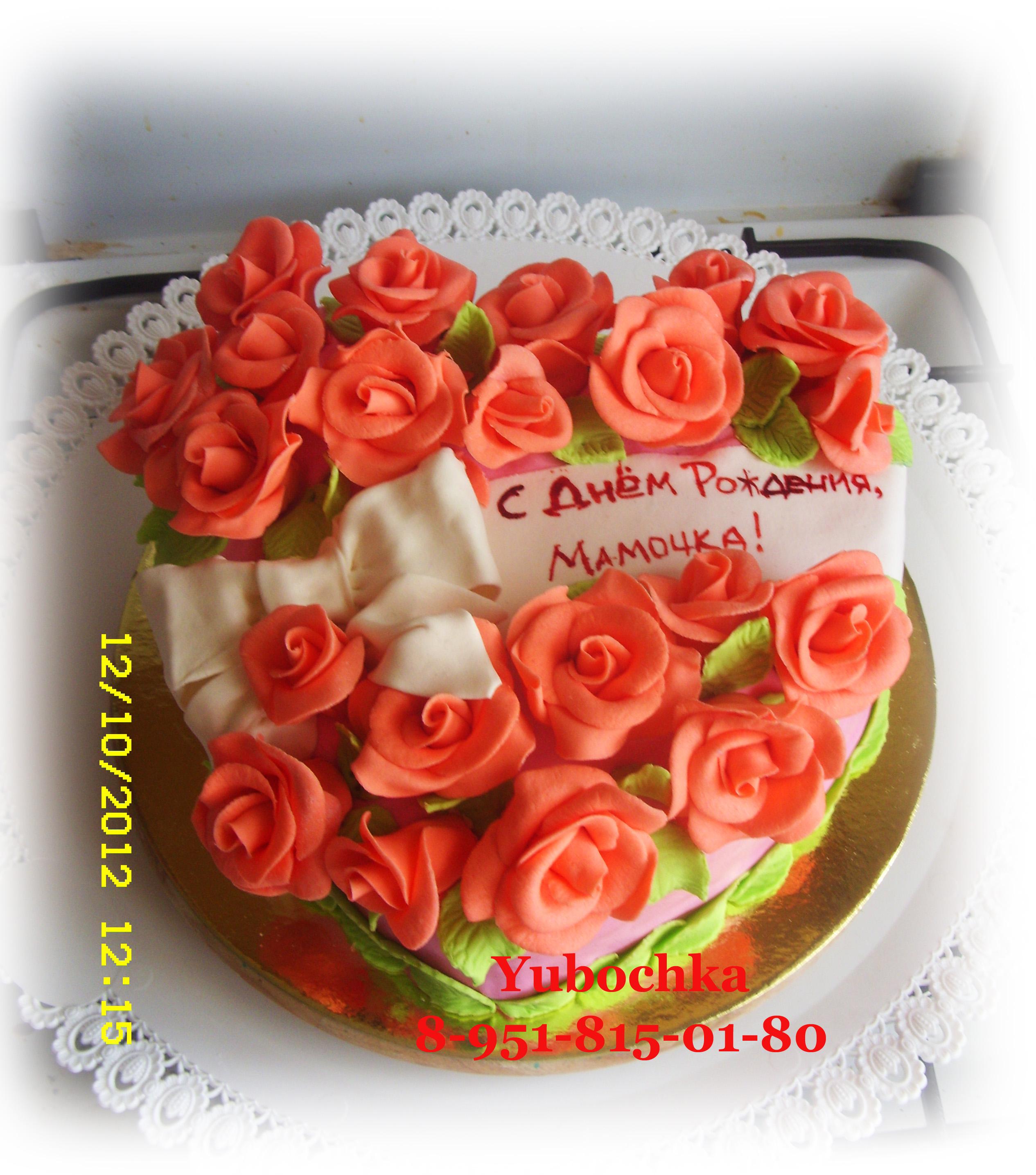 Торт на свадьбу со сливками фото 2